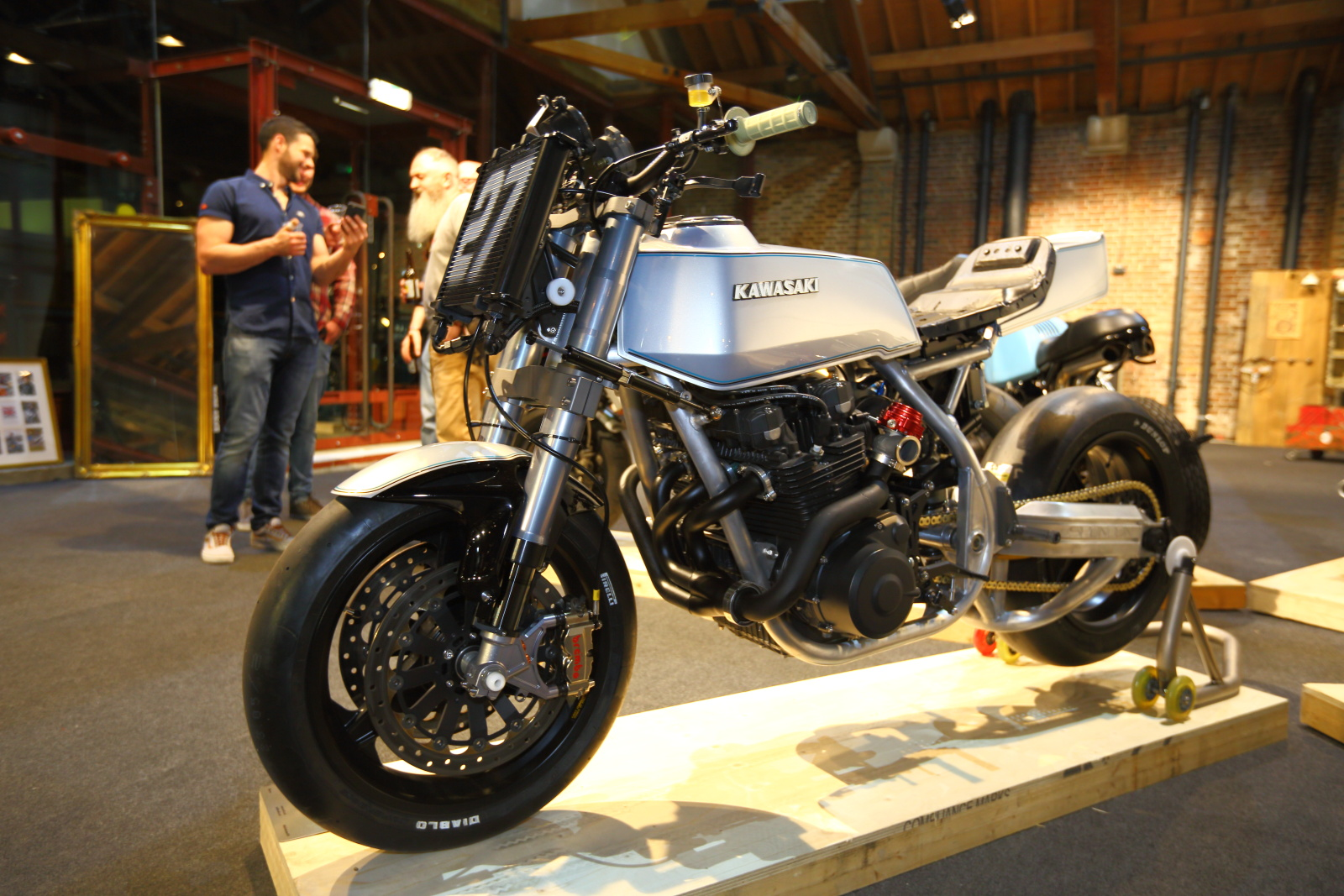 Z1000 custom at the Bike Shed show
