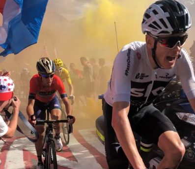 Tour de France motorcycle escort falsely blamed for crash