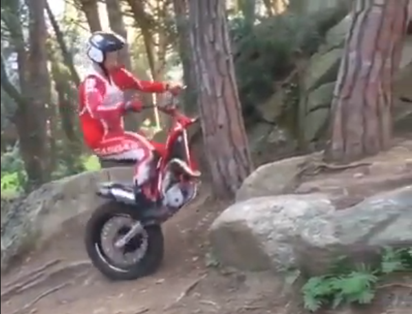 Rocky hill no match for one-wheeled trials rider