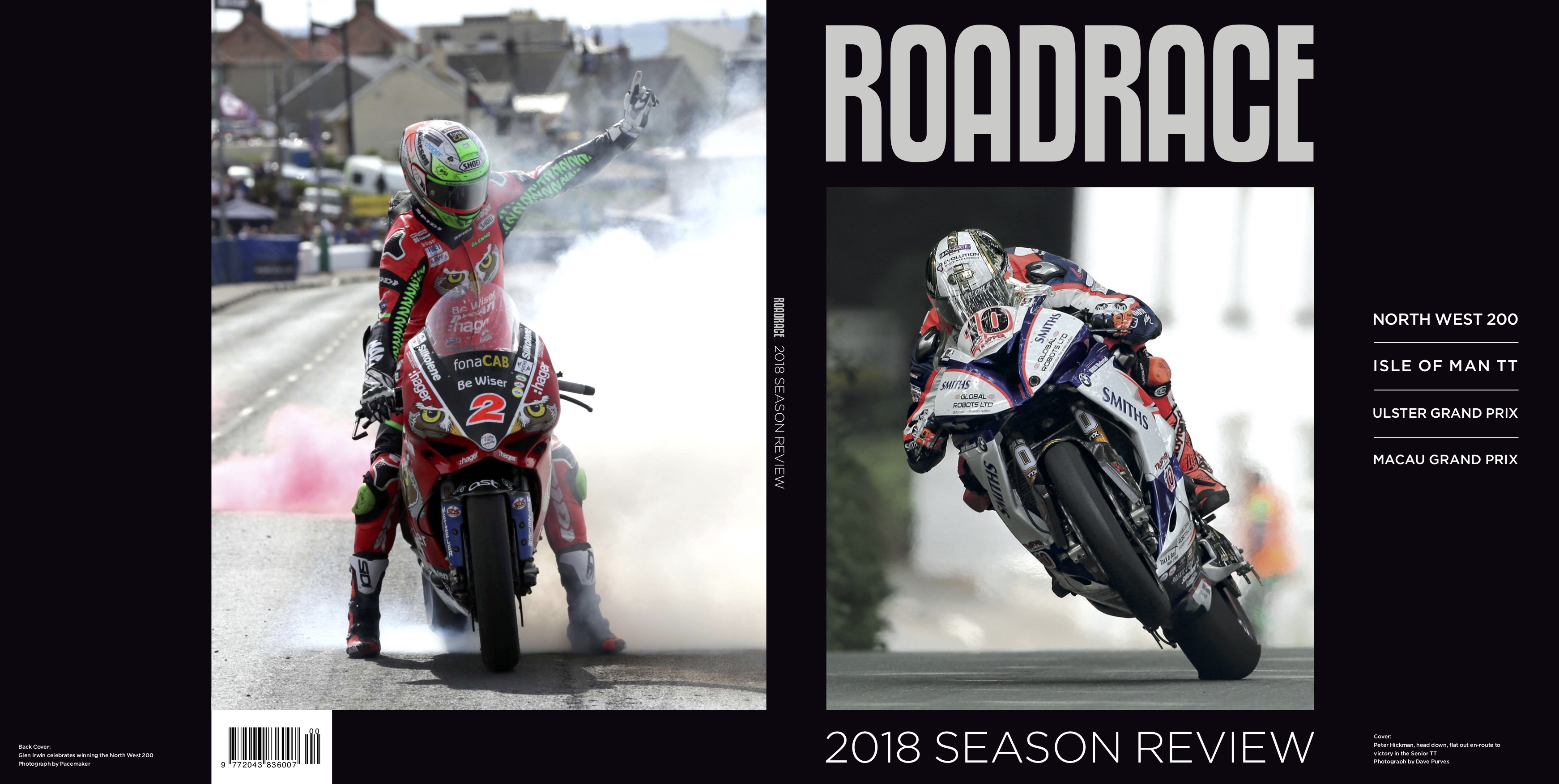 2018 Roadrace Season Review Book Launched Visordown Helm Glossy Racing Spirit White Blue