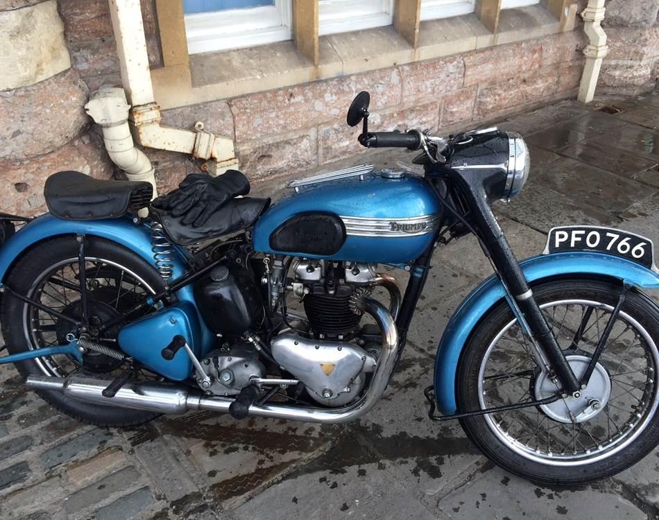 Bike thieves torch classic Triumph following failed ransom demand
