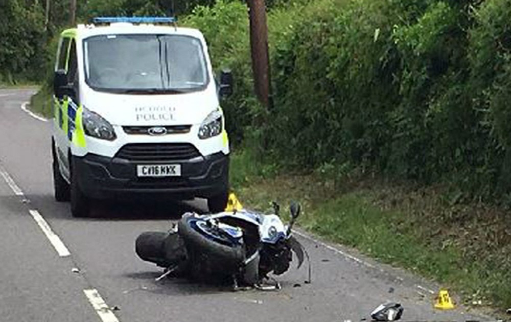 BMW rider hospitalised after running from police