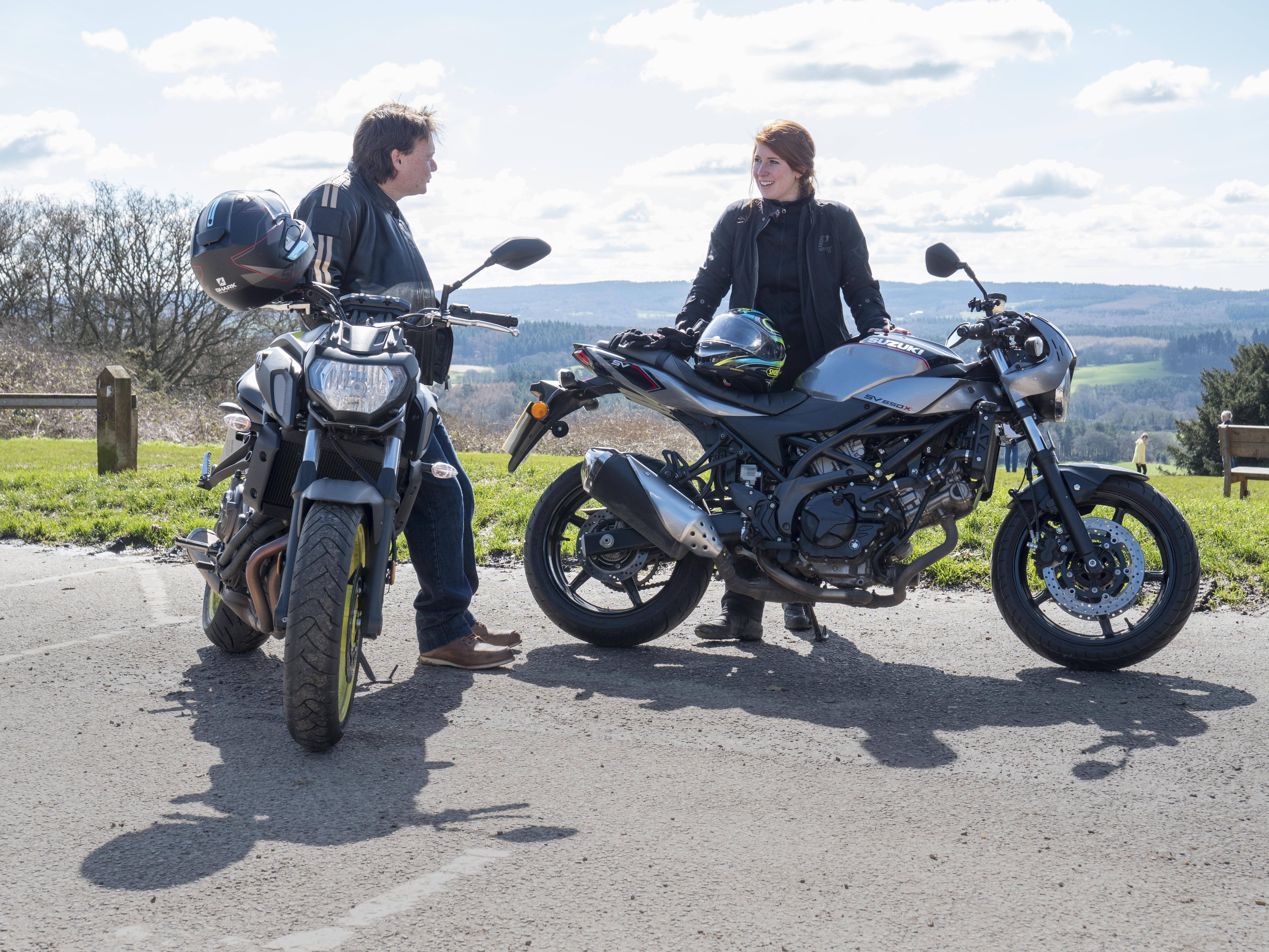 New bike test: Yamaha MT-07 v Suzuki SV650X   Visordown