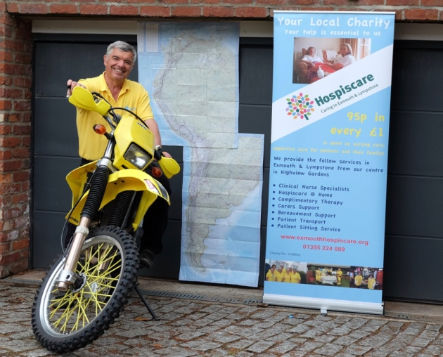 Pensioner embarks on 20,000-mile charity ride