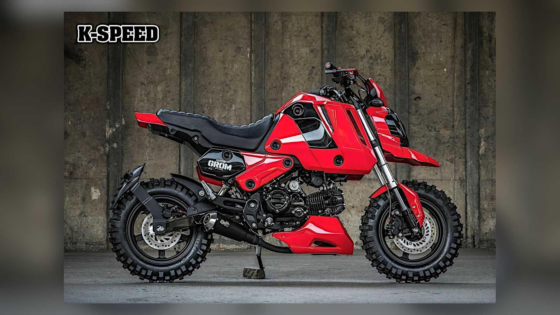 Стиль Adventure-grom для Honda MSX125 |  К-Speed Custom Super Grom