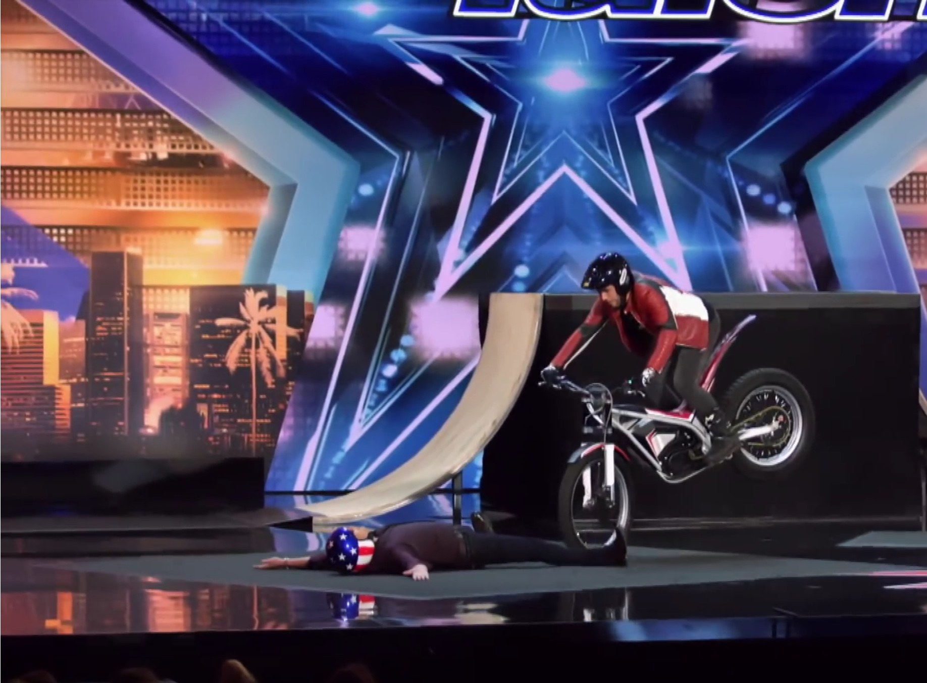 Trials rider terrifies America's Got Talent judge