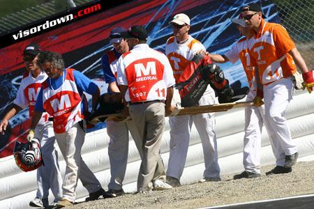 MotoGP: Alex Hoffman's crash in pictures