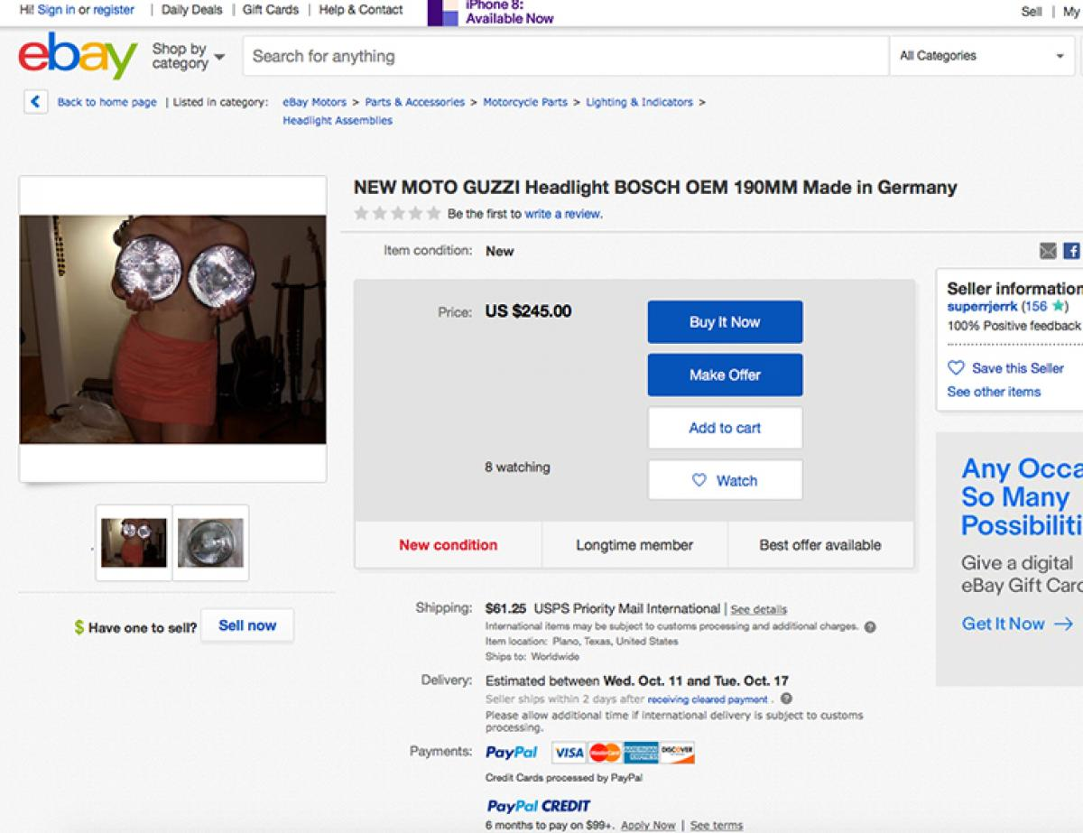 How To Sell Motorbike Headlights On Ebay Visordown