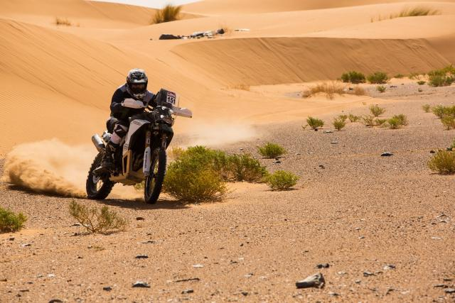 Modified Triumph Tiger competes in desert rally, but is it hiding something?