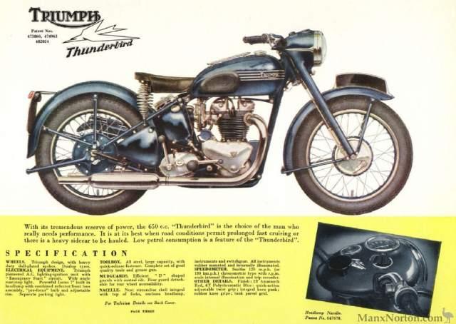 1956 Triumph Thunderbird 650