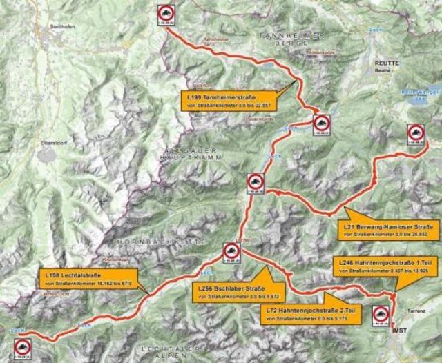 Austria Tyrol map