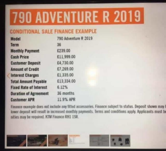 KTM 790 Adventure R prices