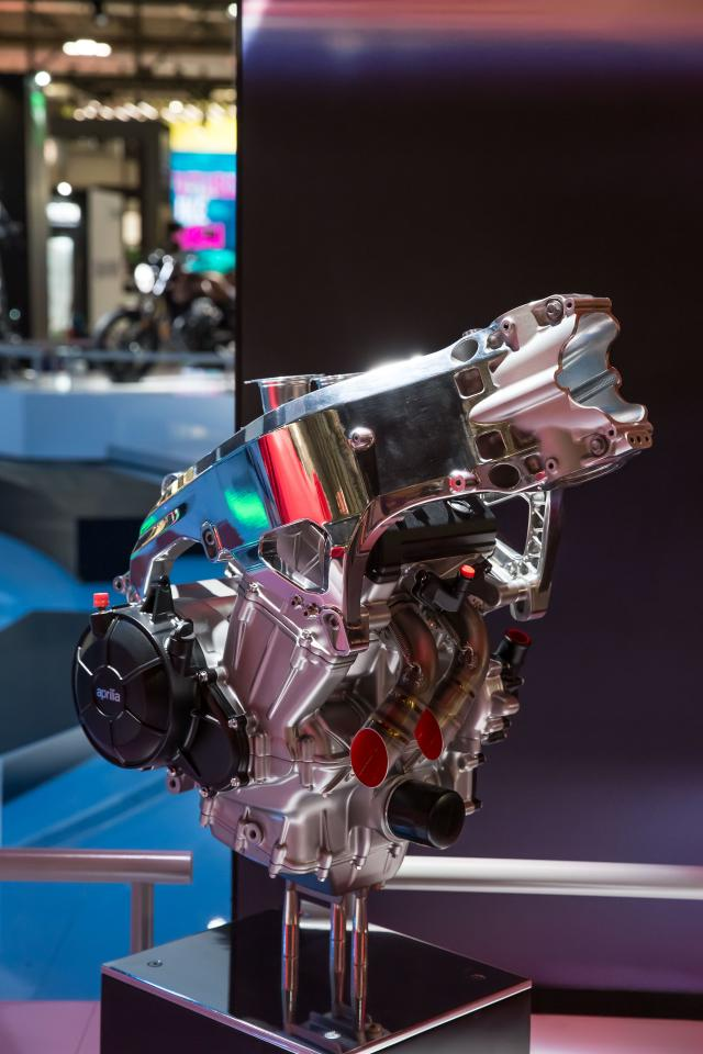 Aprilia RS660 concept bike engine