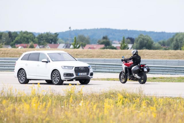 Ducati Audi safety car-bike comms smart highway