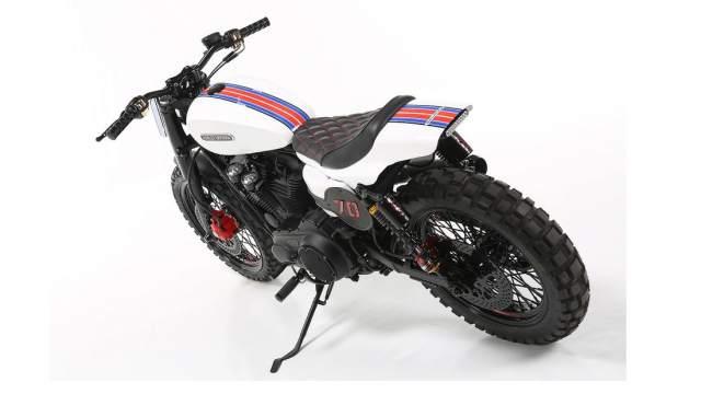 Harley Davidson Custom Sportster Lord Drake Kustoms rear