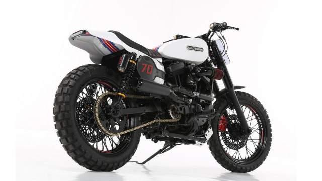 Harley Davidson Custom Sportster Lord Drake Kustoms rear quarter