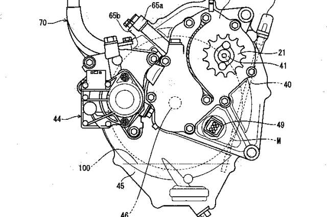 Honda CB125R electric motorcycle patents