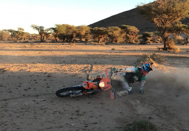 Morocco KTM crash