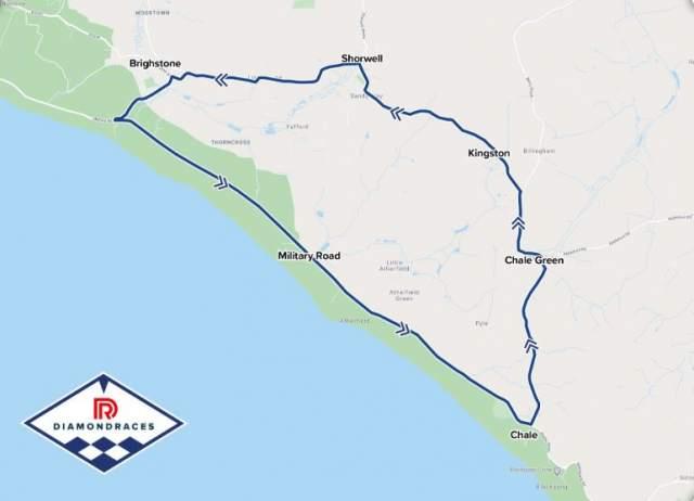 Isle of Wight Diamond Races track map