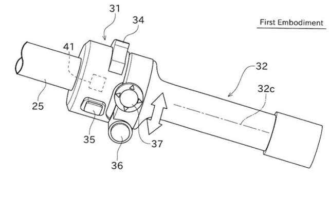 Kawasaki Hybrid drive patent application