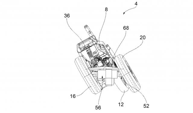 Piaggio three-wheel patent