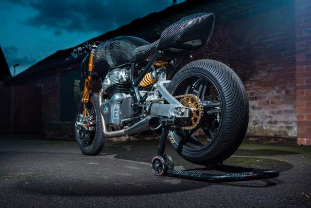 Royal Enfield custom Continental GT 650 exhaust