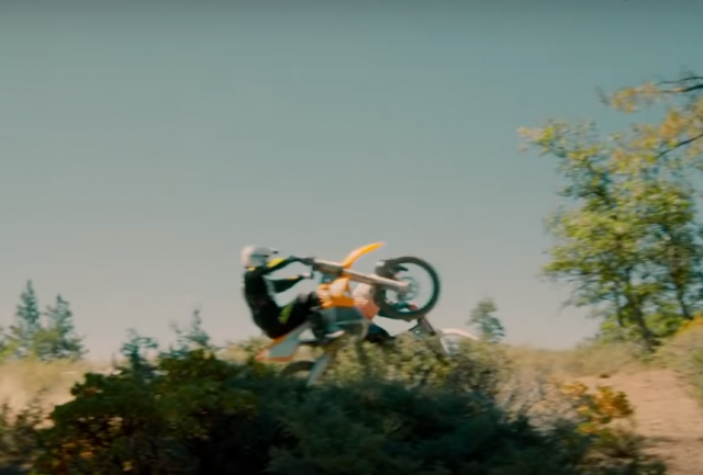 Matt LeBlanc wheelie Alta Redshift