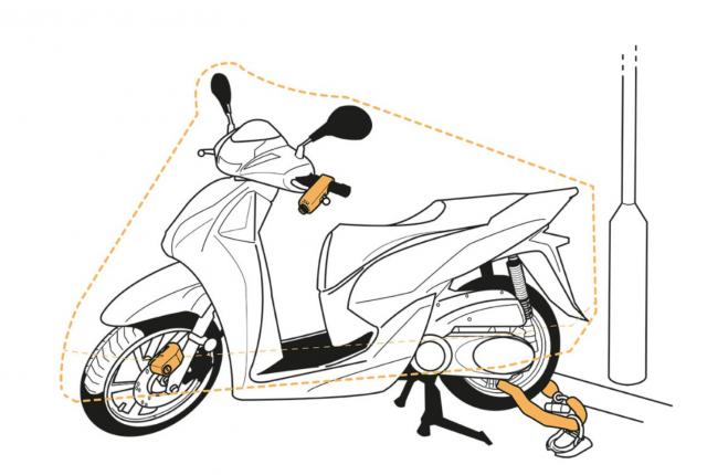 Secure motorcycle