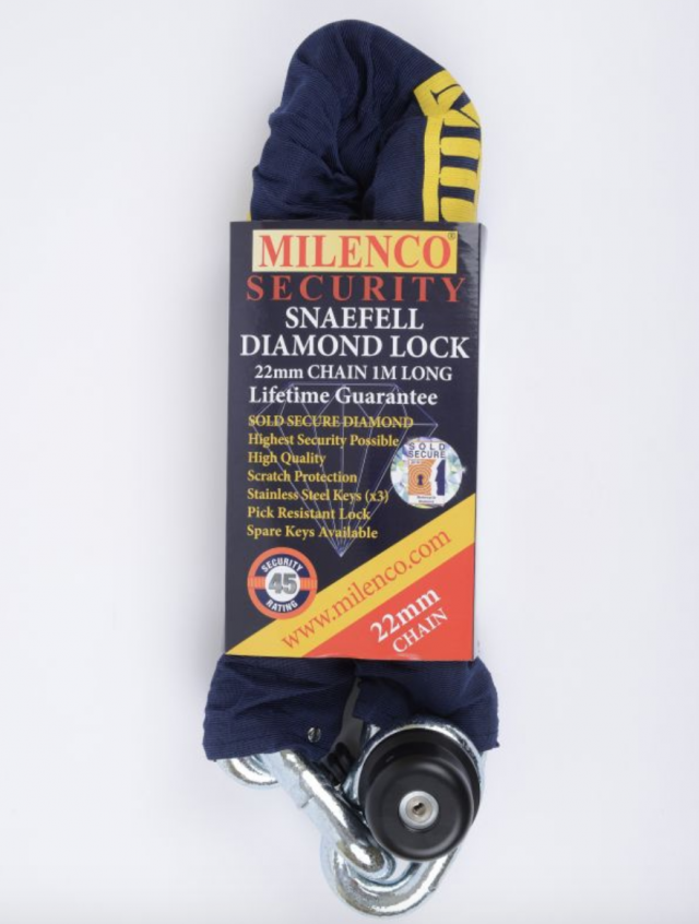 Millenco Snaefell Diamond Lock and 22mm Chain