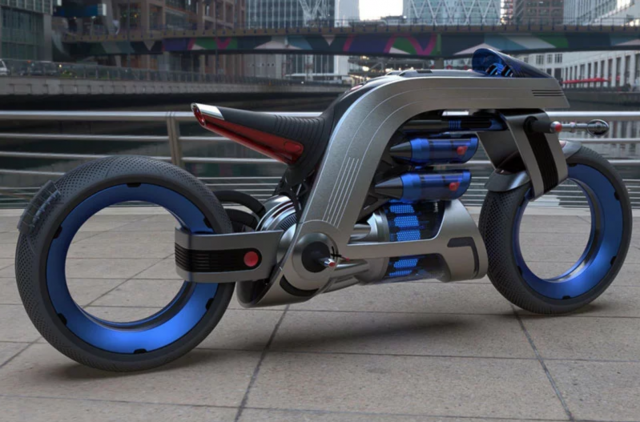 Dyson inspired electric motorcycle concept