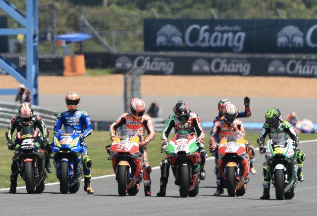 MotoGP start field Thailand