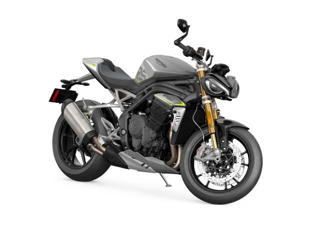 Speed Triple 1200 RS - Matt Silver Ice - Angle Front