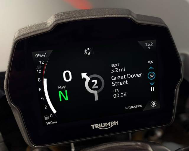 Speed Triple 1200 RS Instruments