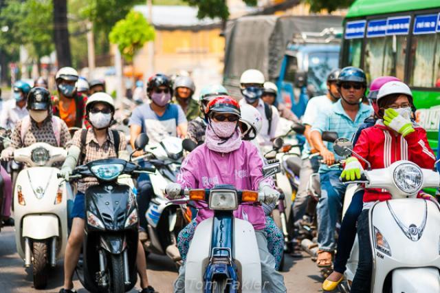 Vietnam motorcycle riders
