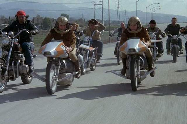 Battlestar Galactica Flying Motorcycles