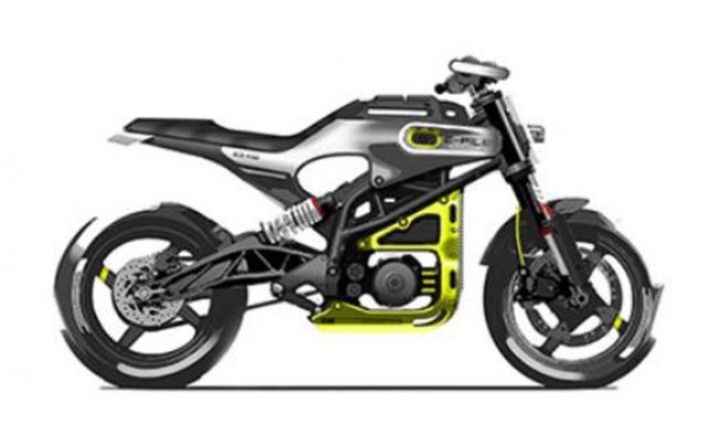 Husqvarna E-Pilen EV motorcyclle sketch 2022