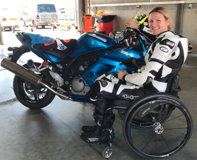 Paralysed rider Claire Lomas to lap each BSB circuit on race day