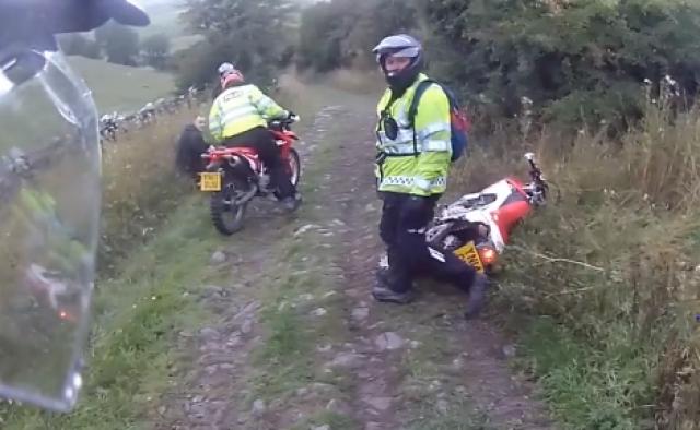 Copper comes a cropper on dirt bike
