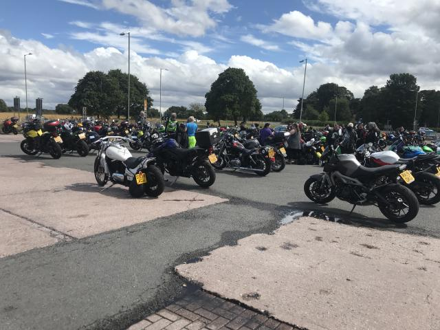 Female bikers brave bad weather for record attempt meet