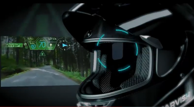 Start-up launches HUD helmet with integrated Alexa