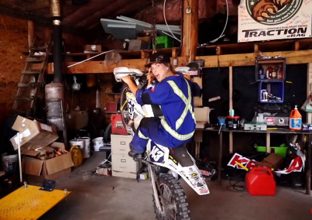 Hilarious dirt bike parody proves being 'Just a girl' isn't all bad