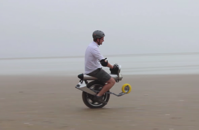 Check out this one-wheeled electric motorcycle