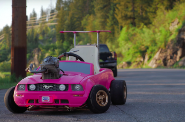 Barbie goes drifting thanks to CRF230 engine