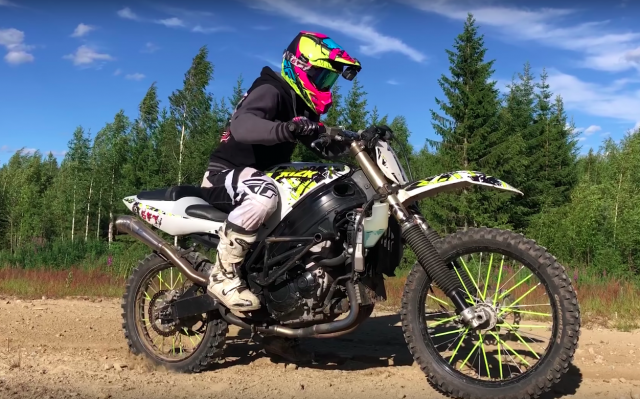 What do you get if you cross a GSX-R with a dirt bike?