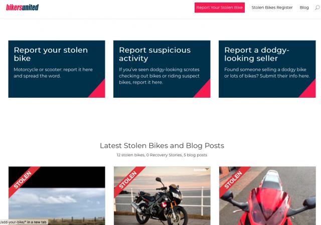 Bikers United website