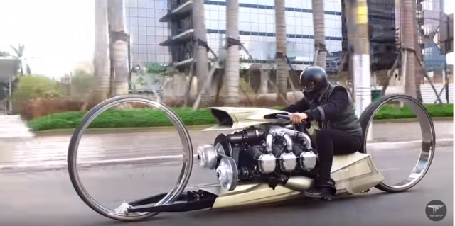 Former F1 driver designs airplane-engined concept motorcycle