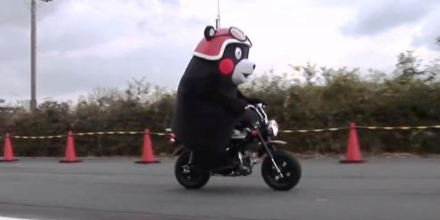 Kumamon on his Monkey