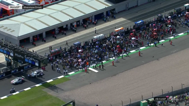 Silverstone MotoGP track inspection team