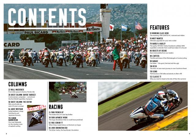 Retro RR contents page