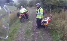 crash Copper comes a cropper on dirt bike